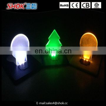 2016 hot selling mini colorful Pocket promotion Magnify LED card light