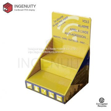Custom paper countertop display unit CDU-TRAY-021