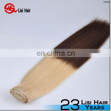 Wholesale Factory Price Full head Brazilian Virgin Human Hair 220g remy clip in hair extension
