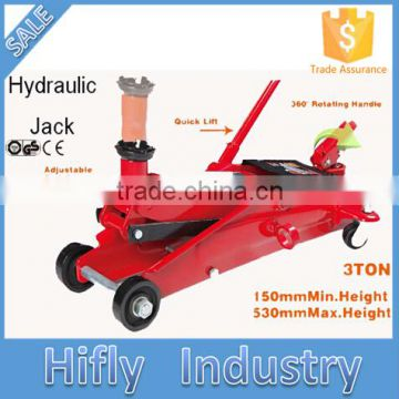 HF-T83006F 3 Tons High Quality Manual Hydraulic Jack SUV Quick Lift