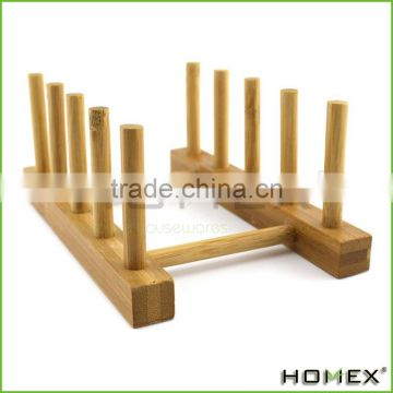 Bamboo Kitchen Dish / Plate / Bowl / Cup / Book Drying Rack Stand Drainer Storage Holder Organizer/Homex_Factory