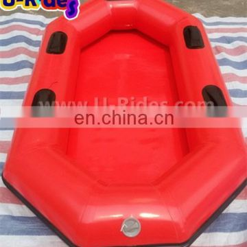 Green Color Inflatable Floating Boat For Water Park