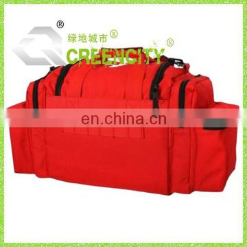 Red Tactical First Aid Emergency Medical Kit Carry Bag Camping