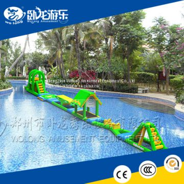 0.85mm PVC water games park inflatable floating water park with water toys
