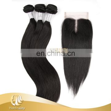 100% Real virgin Peruvian relaxed straight hair no tangle no shed hair weave