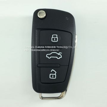 3 button Audi remote control flip key for A3 TT