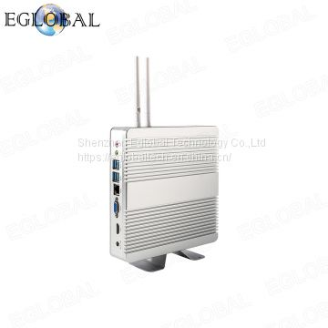 Fanless Mini PC TV Box Desktop i5 5250U mini proter Broadwell Intel jector Win 10 Mini PC