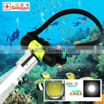 Goread GD27 T6 diving light focusable torch 18650 3XAAA high bright diving torch
