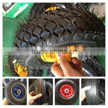 China factory of low speed good real rubber pneumatic wheelbarrow wheel
