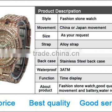 bulk sell ce/rohs handmade beaded bracelet watch&girls wrist watch/custom jelly watch