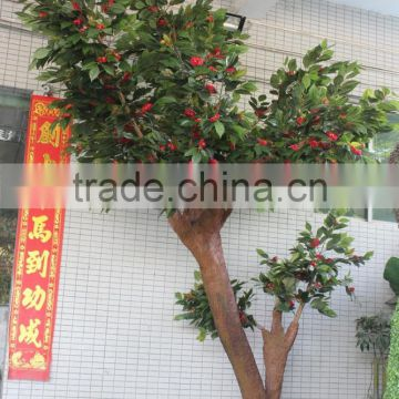 home &garden ornament artificial camellia tree with flowers decoration