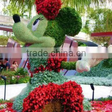 Home and outdoor decoration synthetic cheap artificial vertical green grass statue E08 04R00