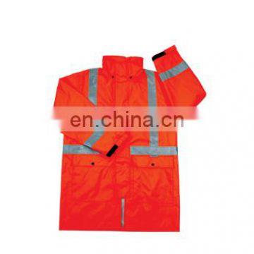 long High visibility rainwear work with 100% Cotton fabric