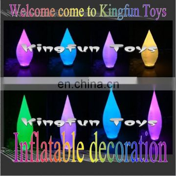 Colored ground led inflatable cone decorations