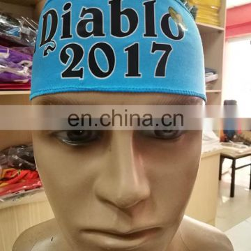 2017 El Diablo Run Game Headband blue color