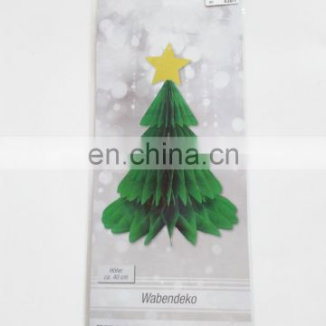 Decorations Tissue Paper Honeycomb Artificial Christmas Tree