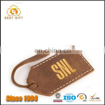 Factory product durable leather luggage tag for men