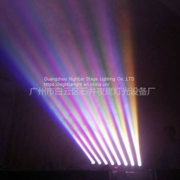 8*10W LED Moving Head Beam Light Stage Lighting DJ Party Disco Wedding Lighting