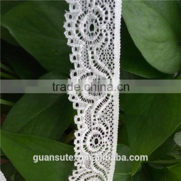 Width 3cm Flower Trimming Elastic Lace For Apparel, Lingerie and Textile Accessories