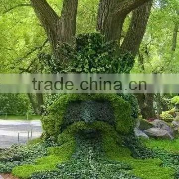 large size outdoor artificial grass sculpture for outdoor ornament