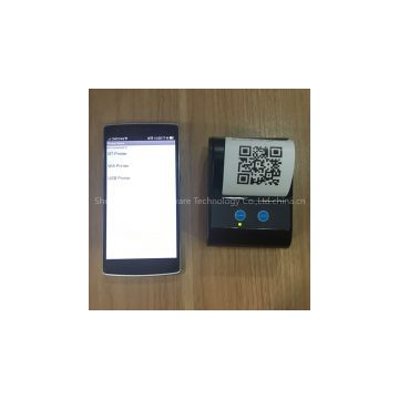 Portable Bluetooth mobile label Printer Support 1d 2d qr cdode printing