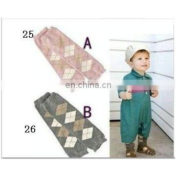 in stock! baby boy Leg Wamrer warmers square pattern fashion kids leg warmer legging leggings
