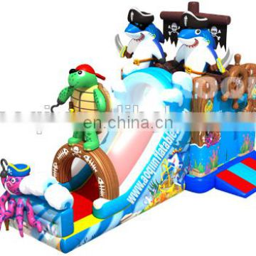 2015 new design best seller best quality turtle captain inflatable combo