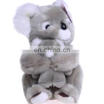 New 2017 cute customized koala mum with baby plush toy stuffed soft toy