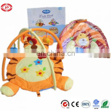 Baby cute tiger plush soft mat for crawling gift set toy