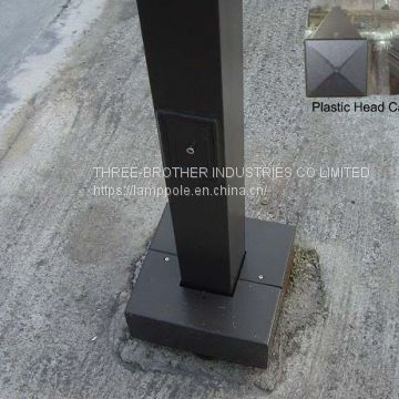 square straight Lighting pole Hot dip galvanized Powder coating
