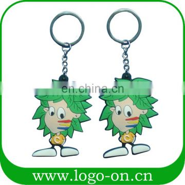 China Manufacturer 3D Pvc Couple Keychain Pvc Rubber Keychain