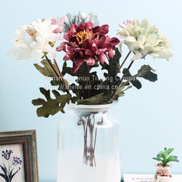 Cheap Artificial Flower Wedding Photography Hand Bouquet Single Stem PE Peony