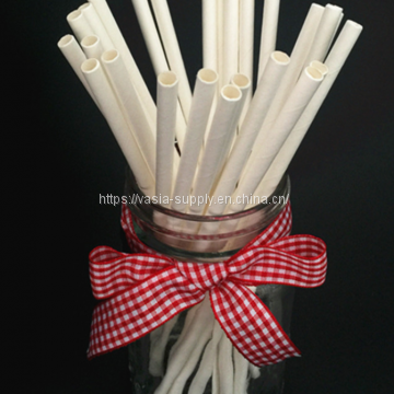 Premium Biodegradable Paper Straws | Solid Color Straws | 7.75 Inches