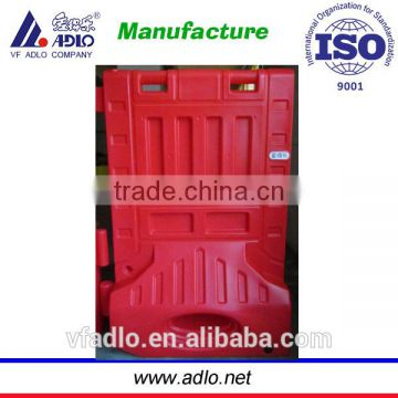 New quality construction road water filled red plastic wall barrier