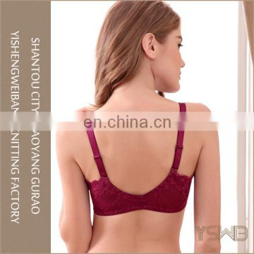 Woman mature fashion breathable adjustable front closure bra