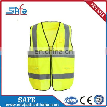 Elastic unisex running reflective safety high visibility yellow CE vest