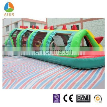 gator inflatable tunnel, gator inflatable obstacle for kids