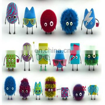 stuffed plush toy, accept custom items for promotion, customized logo embroidery face