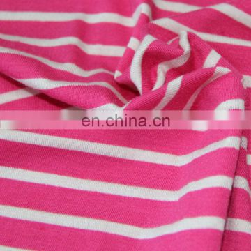 CC-117 2013New Styles ployester and spandex poly/sp 95/5 Yarn Dyed stripe jersey fabric&knitted jersey Fabric for garments