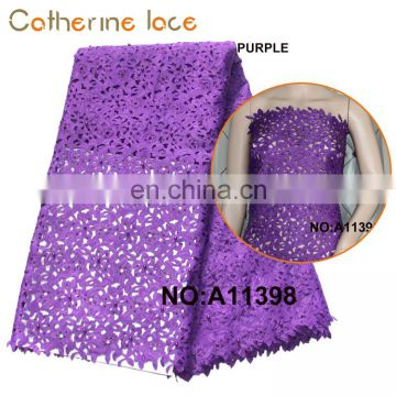 Catherine Cheap Custom Design Beaded Laser Cut Lace Fabric For Wedding