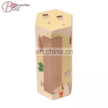 Wholesale Cheap Cute Cardboard Socks Box Gift Packaging Box with PVC Window