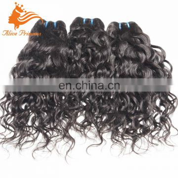Best Selling High Quality Human Mongolian Hair Pieces Black Water Wave Hair Weft Thick Virgin Human Hair Bundle