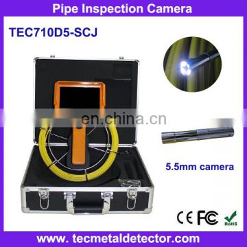 Handheld pipe inspections and surveys drain camera with 7 inch screen TEC710D5-SCJ