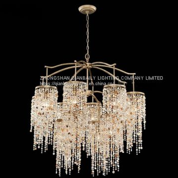 USA style Crystal chandelier lighting LED Decorated Chandeliers for hotel hall and villa living room