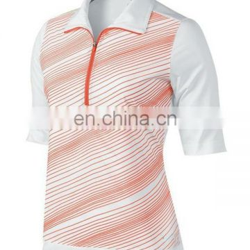 manufacturer OEM high quality 100%polyester sublimation ladies golf clothing