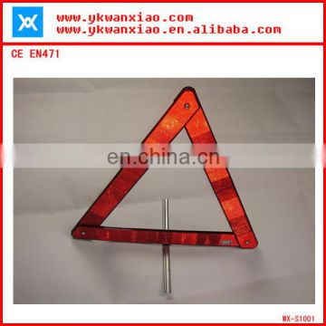 car safety reflective triangle, plastic bag warning label,E-mark traffic triangle
