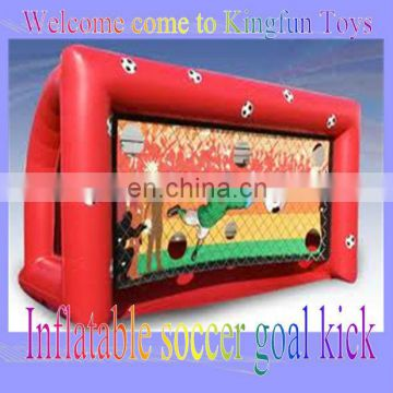 New arrival inflatable soccer goal kick game for rental