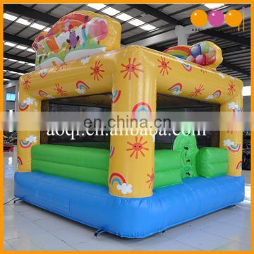 cheap Kindergarten used kid toy inflatable rainbow jumping castle moonwalk for sale
