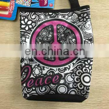 2016!NEW DIY color your own tote bag for kids with markers-RFN60323
