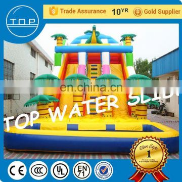 PVC inflatable jumping aqua park slip n slide for sale